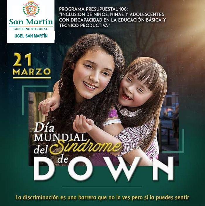 DIA MUNDIAL DE SINDROME DE DOWN.